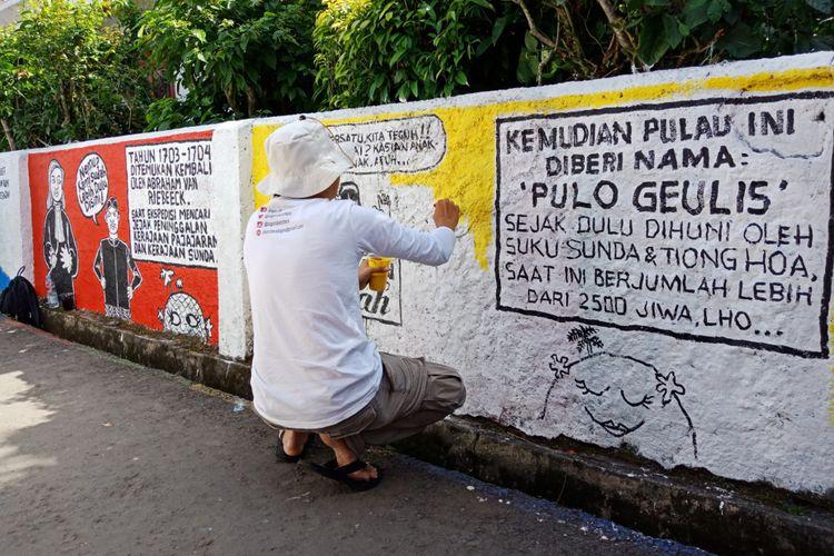 Kampung Mural Pulo Geulis Jadi Wisata Bogor Kekinian