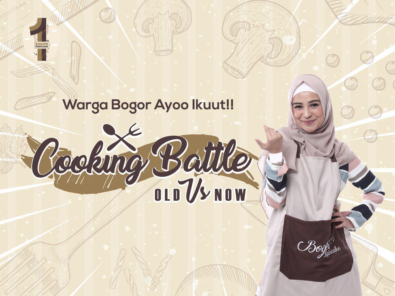 Battle Cooking Jadi Pembuka Festival Hujan Kuliner Bogor Raincake 2018